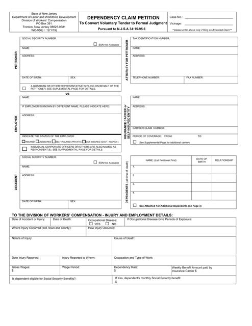 Form WC-956  Printable Pdf