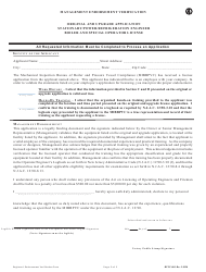 """Form BPVC-003 """"Application for Stationary, Power and Refrigeration Engineer, Boiler and Special Operator License"""" - New Jersey, Page 6"""