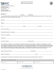 "Form GU-41 Section A ""Application for Special Road Crossing Permit"" - New Jersey"