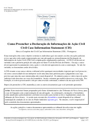 "Form 10517 ""Civil Case Information Statement (Cis)"" - New Jersey (English/Portuguese)"