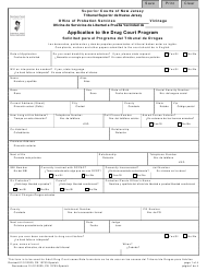 """Form 10753 """"Application to the Drug Court Program"""" - New Jersey (English/Spanish)"""