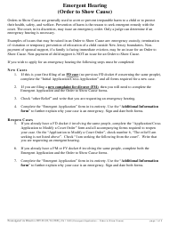 """Form 11523 """"Emergent Application (Order to Show Cause)"""" - New Jersey"""