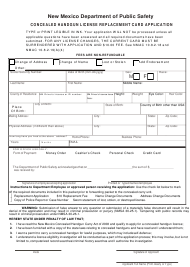 """""""Concealed Handgun License Replacement Card Application"""" - New Mexico"""