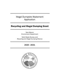 """Illegal Dumpsite Abatement Application"" - New Mexico, 2021"