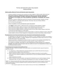 """""""Certificado De Exencion De Los Requisitos De Vacunacion Escolar/Guarderias"""" - New Mexico (Spanish)"""