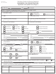 "Form ACD-31015 ""Business Tax Registration Application and Update Form"" - New Mexico"