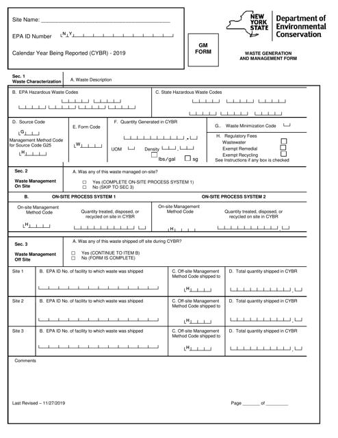 Form GM  Printable Pdf