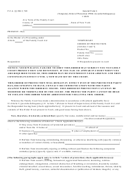 "General Form 6 ""Temporary Order of Protection (Person in Need of Supervision or Juvenile Delinquency)"" - New York"