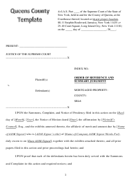 """""""Order of Reference and Summary Judgment"""" - Queens County, New York"""