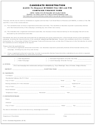 "Form CF-04 ""Candidate Registration and/Or to Request Nysboe Filer Id# and Pin Campaign Finance Form"" - New York"