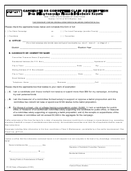 "Form CF-05 ""Candidate or Committee Claim of Exemption From Filing Campaign Financial Disclosure Reports"" - New York"
