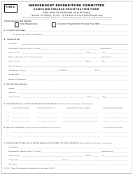 "Form CF-02 Type 8 ""Independent Expenditure Committee Campaign Finance Registration Form"" - New York"