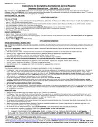 "Form LDSS-3370 ""Statewide Central Register Database Check"" - New York"