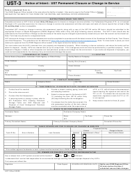 "Form UST-3 ""Notice of Intent: Ust Permanent Closure or Change-In-service"" - North Carolina"