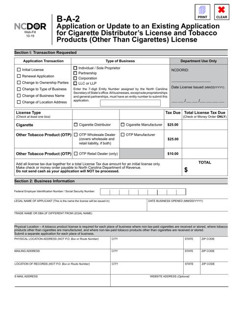 Form B-A-2  Printable Pdf
