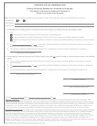 "Form AOC-DRC-08 ""Certificate of Observation (Family Financial Settlement Conference Program)"" - North Carolina"