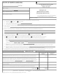 "Form AOC-G-303 ""Report of Mediator in Clerk Program Mediation"" - North Carolina"