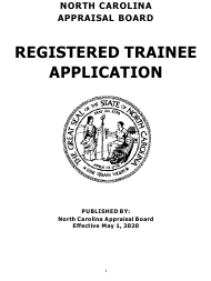 """Application for Trainee Registration"" - North Carolina"