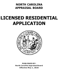 """Application for Licensed Residential"" - North Carolina"