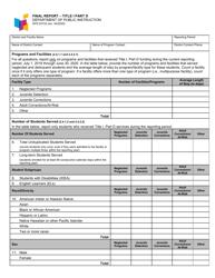 "Form SFN53733 ""Final Report - Title I Part D"" - North Dakota"