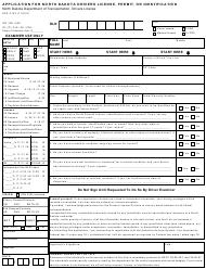 "Form SFN6763 ""Application for North Dakota Drivers License, Permit, or Identification"" - North Dakota"