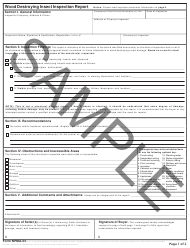 "Form NPMA-33 ""Wood Destroying Insect Inspection Report"""
