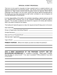 """Form OP-090211 Attachment E """"Special Event Proposal"""" - Oklahoma"""