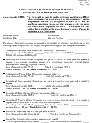 """Form OP-110235 Attachment C """"Applicant for Career Progression Promotion"""" - Oklahoma"""
