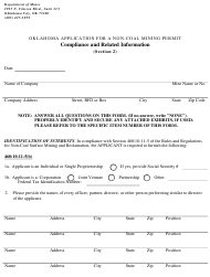 """Form CRI Section 2 """"Compliance and Related Information"""" - Oklahoma"""