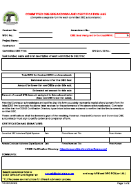"""Form 734-5235 """"Committed Dbe Breakdown and Certification a&e"""" - Oregon"""