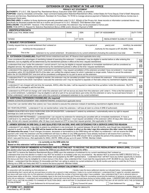 AF Form 1411 Printable Pdf