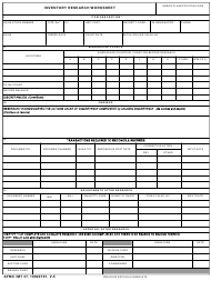 """AFMC IMT Form 37 """"Inventory Research Worksheet"""""""