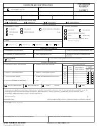"AFMC Form 771 ""Conference Notification"""