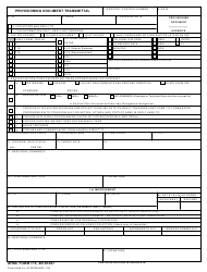 "AFMC Form 773 ""Provisioning Document Transmittal"""