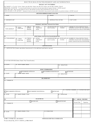 "AFMC Form 80 ""Multiple Qualification Request and Authorization"""