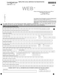"Form LSTR ""Employer Local Services Tax Registration"" - Pennsylvania"