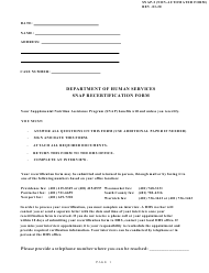 "Form SNAP-2 ""Snap Recertification Form"" - Rhode Island"