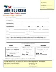 """Membership Application"" - South Carolina, 2020"