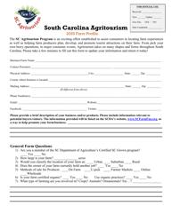 """South Carolina Agritourism Farm Profile"" - South Carolina, 2020"