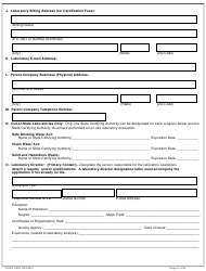 """DHEC Form 2802 """"Application for Environmental Laboratory Certification"""" - South Carolina, Page 2"""