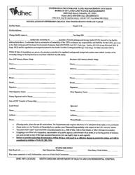 "DHEC Form 3871 ""Notification of Ownership Change for Underground Storage Tanks"" - South Carolina"