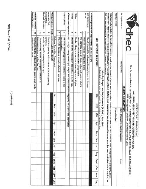 DHEC Form 3185 Printable Pdf