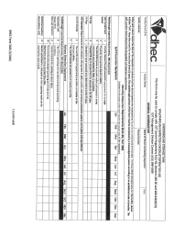 "DHEC Form 3185 ""Walkthrough Inspection Checklist/Operator Log"" - South Carolina"