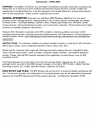 """DHEC Form 2556 """"Bidder's American Iron and Steel Certification"""" - South Carolina, Page 2"""