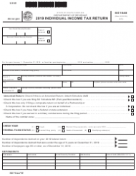 "Form SC1040 ""Individual Income Tax Return"" - South Carolina"
