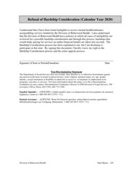 "Form BH-05 ""Refusal of Hardship Consideration"" - South Dakota, 2020"