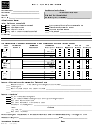 "Form PWD1084 ""Brits - Void Request Form"" - Texas"