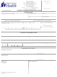 "DOH Form 302-018 ""Covid-19 Sample Submission Form"" - Washington"