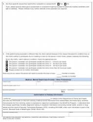 """DSHS Form 10-353 """"Documentation Request for Medical Condition and Residual Functional Capacity"""" - Washington, Page 4"""