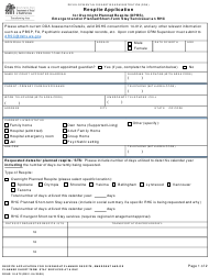 "DSHS Form 10-572 ""Respite Application for Overnight Planned Respite (Oprs), Emergent and/Or Planned Short-Term Stay Services at an Rhc"" - Washington"